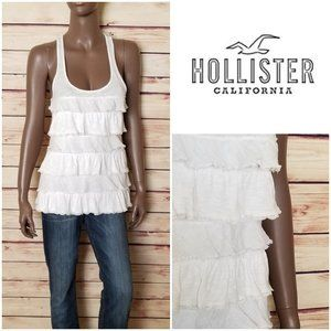 HOLLISTER Ruffle Top in White
